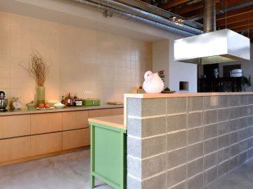 industriële keuken werkbank