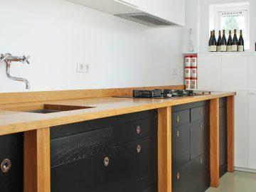 zwarte keuken eiken