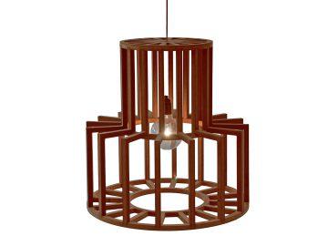 bruine lamp BLOK