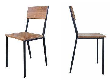 stalen stoel hout skai