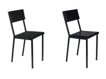 stalen stoelen met skai