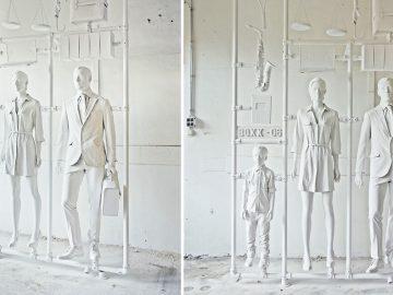 kunst wit plastic