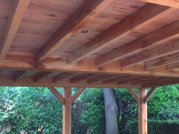 eiken dak carport