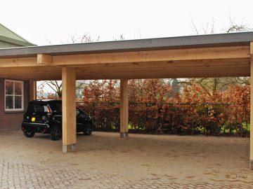houten balken veranda