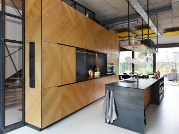 keuken visgraat motief