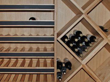 wijnrek eiken kelder
